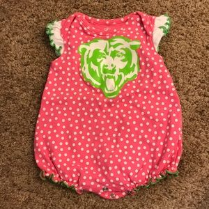 Baby girl Chicago Bears romper